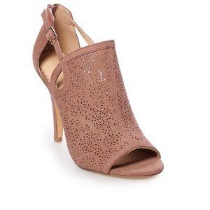 LC Lauren Conrad Caramel Mauve Heels Size 10